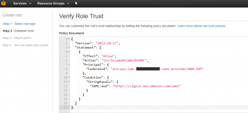 Verify AWS Role Trust