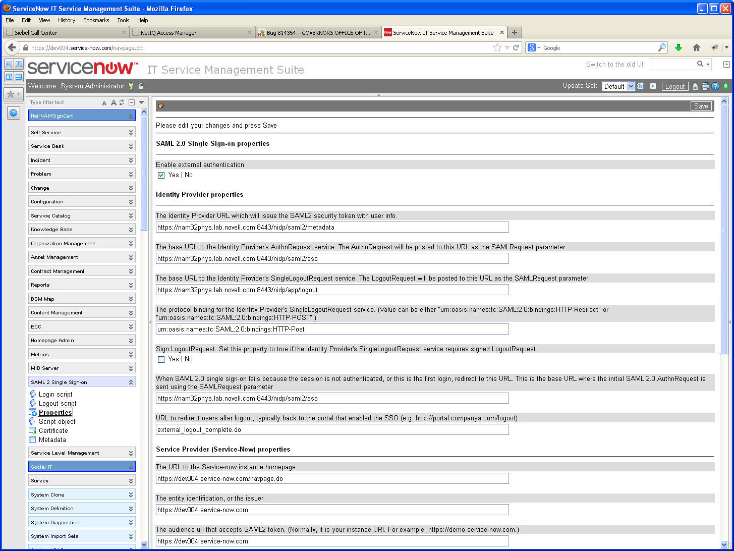 How to Integrate NetIQ Access Manager with ServiceNow IT