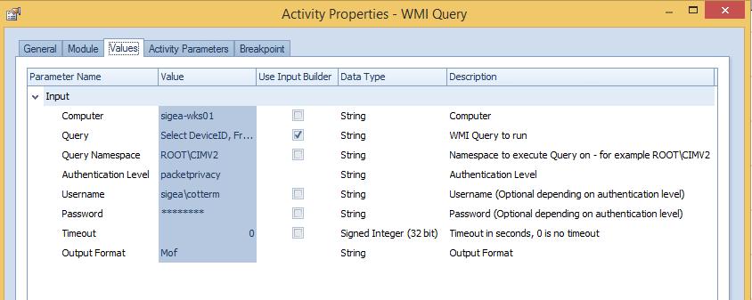 Aegis 'Depot' Activity – WMI query - Micro Focus Community - 1772463