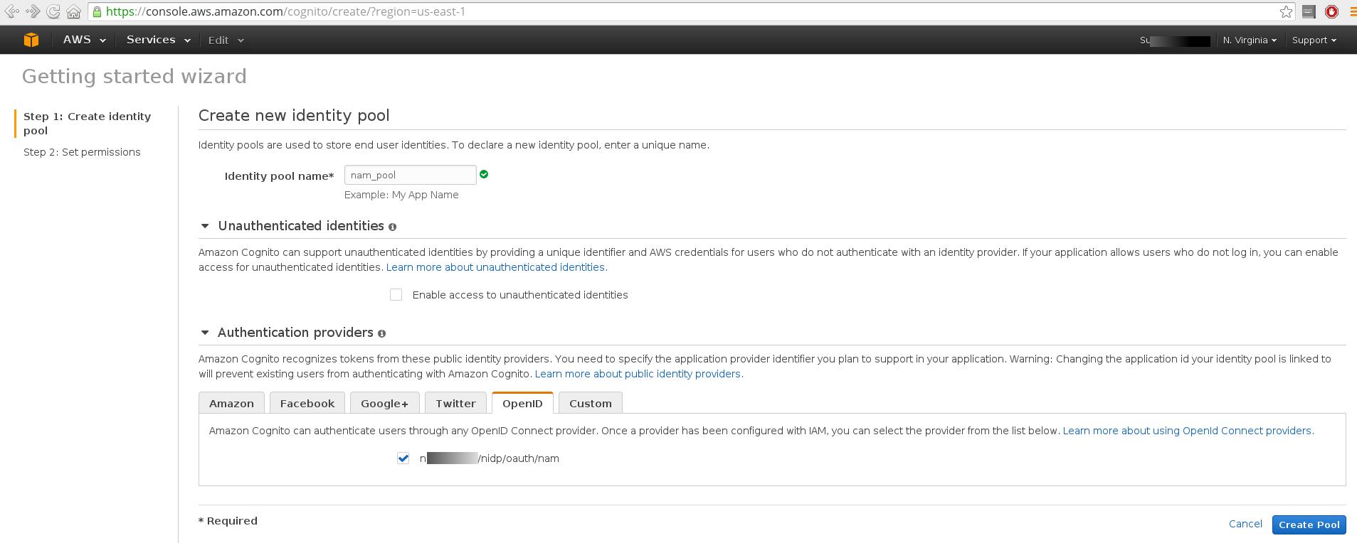 Access Amazon Web Services using Amazon Cognito for Mobile
