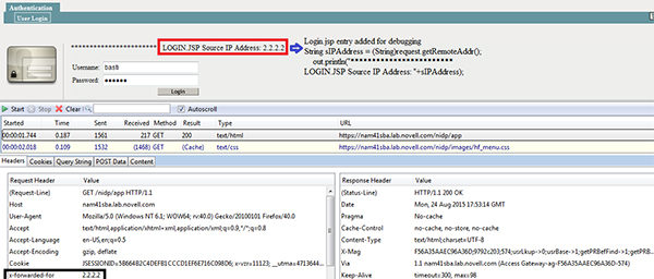 How to pass users actual address to NAM Identity Server when request