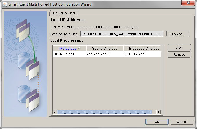 Smart Agent Multi Homed Host Configuration Wizard