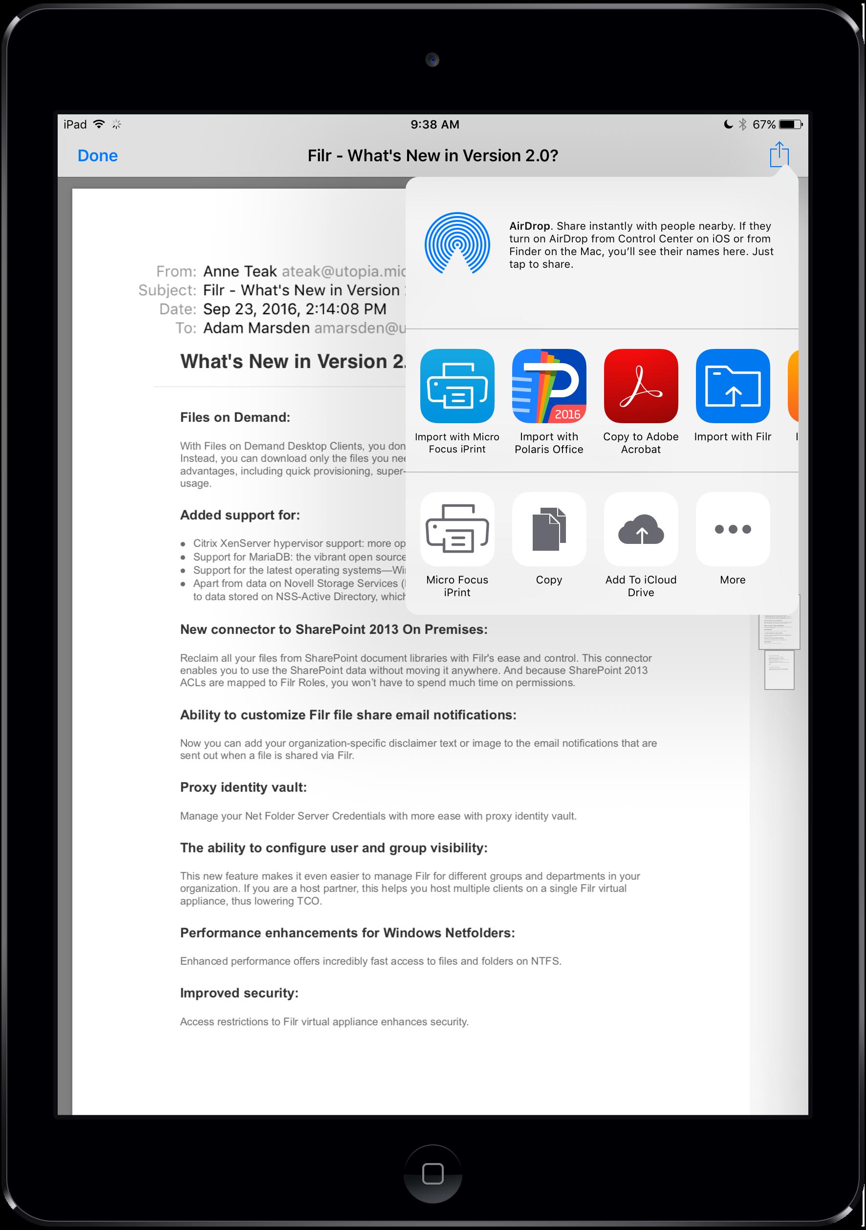 """Print"""" to PDF and Save to Filr using iOS 10 - Micro Focus"""