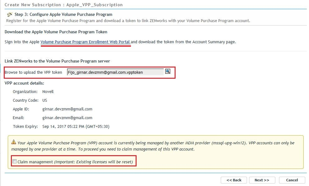 Integrating ZENworks with the Apple Volume Purchase Program and