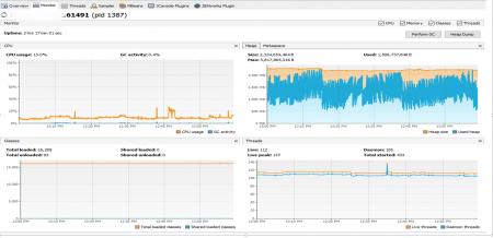 Monitor ZENworks Services using Java VisualVM from a remote system